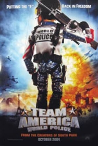 Team America Double Sided Advance 27X40 Movie Poster