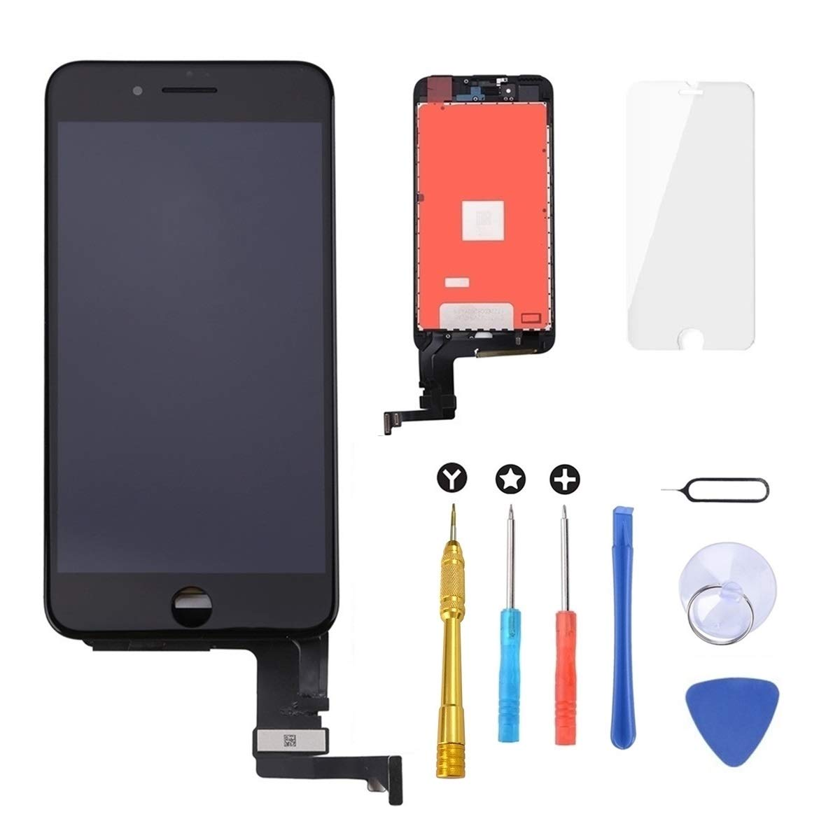 Screen Protector Black Keytas for iPhone 6S Plus Screen Replacement Kit Black 5.5 LCD Compatible with iPhone 6s Plus Touch 3D Screen 5.5 Inch Digitizer Frame Assembly with Free Repair Tools Kit