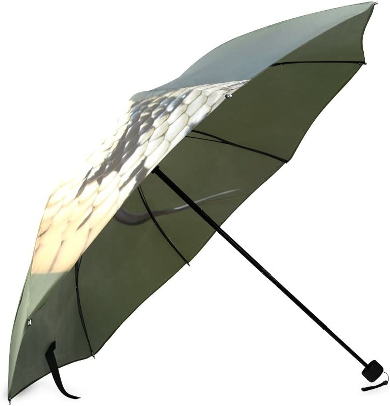Custom Rattlesnake Compact Travel Windproof Rainproof Foldable Umbrella