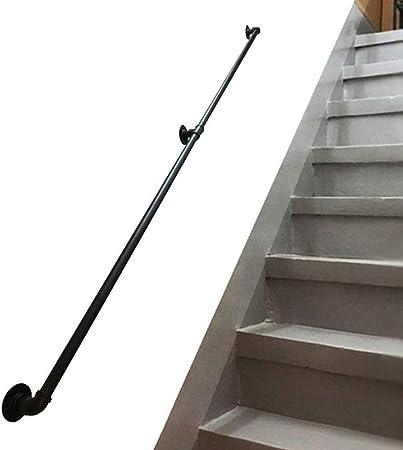 WENBING Negro de Escalera Baranda, multifunción Metal Hierro Forjado Barra de sujeción de Ancianos niños al Aire Libre de Interior Barandilla Antideslizante de la barandilla de la Ayuda,50cm: Amazon.es: Hogar