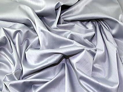 Rayas Elástico Tejido vestido de satén tela gris plata – por metro