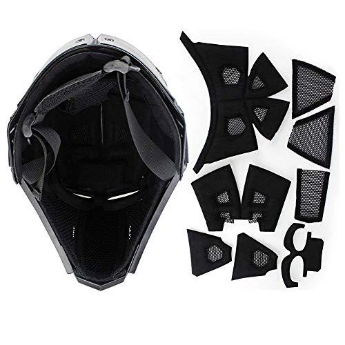 QZY Fast Tactical Casque Full Face Protectrice avec Visière Lunettes, pour La Chasse De Paintball Airsoft Moto Militaire… 5