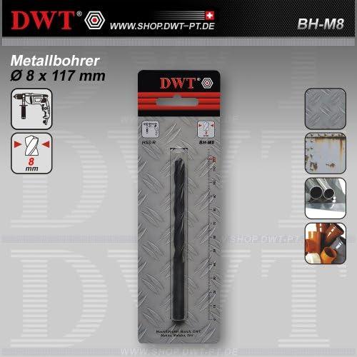 DWT Metallbohrer Ø 8 x 117 mm für Bohrmaschine - BH-M8