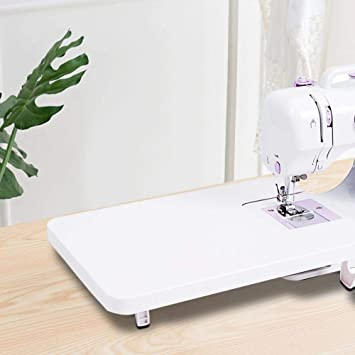 Opinión sobre Mesa para máquina de coser, accesorios para máquina de coser Accesorios Mesa extensible plegable y duradera, principiantes profesionales para trabajos de costura en casa