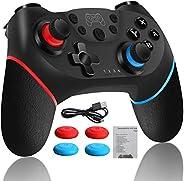 Control Inalambrico Gamepad Joystick Para Nintendo Switch con USB Cable, Joystick Remoto Bluetooth para Consol