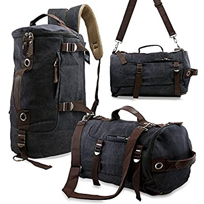 Oct17 Men's Vintage Canvas Hiking Backpack School Travel Duffel Camping Sport Rucksack Satchel Messenger Bag