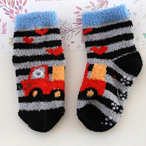 Baby Sagton Toddler Boots Socks Slipper 3Y Blue L slip Anti Cartoon Shoes Kids 2 Socks 44qBtgw