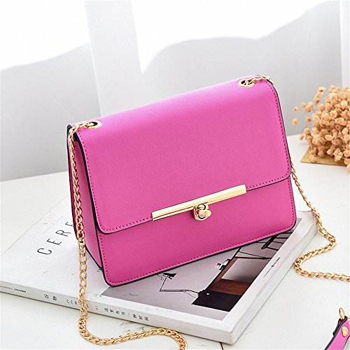 Lady Pocket Bag Rose SJMMBB red Chain Shoulder Rotary Shoulder Bag Lock Mini 7HxOqU