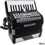 Excalibur Super Classic 48 BASS Piano Accordion BLACK