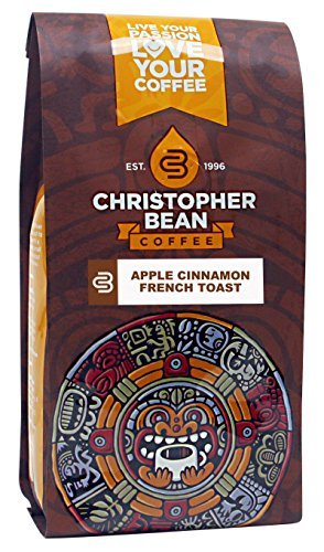 Christopher Bean Coffee Apple Cinnamon French Toast Ground Coffee, 12 Ounce by Christopher Bean Coffee