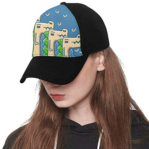 Baseball Cap Unisex Cool Design Style Hand Drawn Printing(Front Panel Custom) Cotton Dad Hat Soft Adjustable Trucker Cap Sun Hats for Women Men Hip-hop Sports Summer Beach Outdoor
