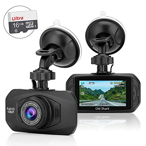 1080P Dash Cam - Oldshark Car Camera 170 Wide Angle Full HD Dashboard Video Recorder, Car DVR Vehicle Dash Cam with Night Vision G-Sensor Loop Recording WDR Motion Detection Super Night Vision