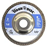 Weiler Tiger Type 29 Non-Woven Zirconium Flap Disc - Very Coarse Grade - 5 in Dia 7/8 in Center Hole - 12000 Max RPM - 50521 [PRICE is per DISC]