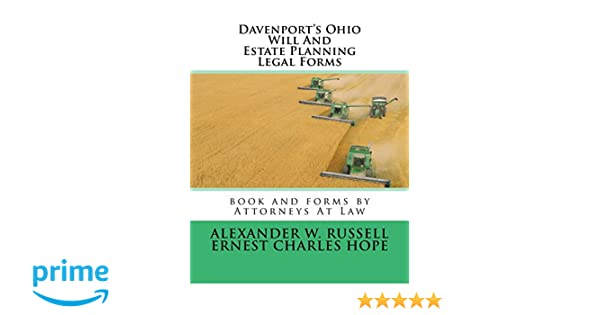 Davenports Ohio Will And Estate Planning Legal Forms Alexander W - Ohio legal forms