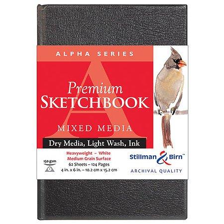 Stillman & Birn : Alpha Sketchbook 8.25 x 11.75in (A4) Hardbound 150gsm - Natural White Vellum ()