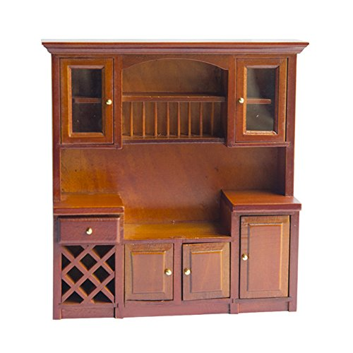 Remeehi Dollhouse Miniatures Furniture DIY Wooden Kitchen Toy Playset (Empty ()