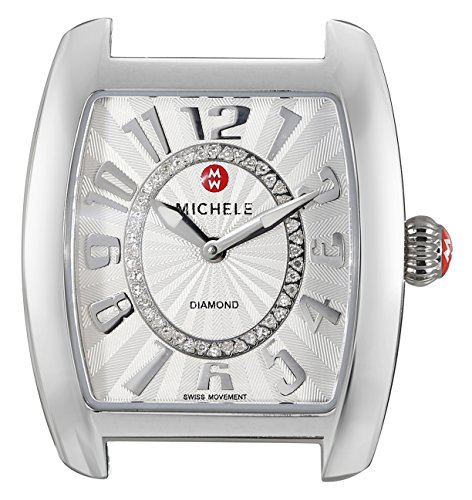 Urban Watch Diamond Mini (MICHELE Women's MW02A00A0991 Urban Mini Analog Display Swiss Quartz Silver Watch Head)