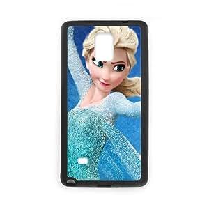 Elsa Frozen Cartoon Samsung Galaxy Note 4 Cell Phone Case Black persent xxy002_6030250