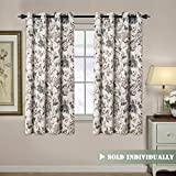 """low budget patio ideas H.VERSAILTEX Blackout Curtains for Living Room Thermal Insulated Curtain Drapes for Bedroom/Dining Vintage Floral Printed Grommet Draperies (1 Panel, 52"""" W x 63"""" L, Sage/Beige/Brown/Blue)"""