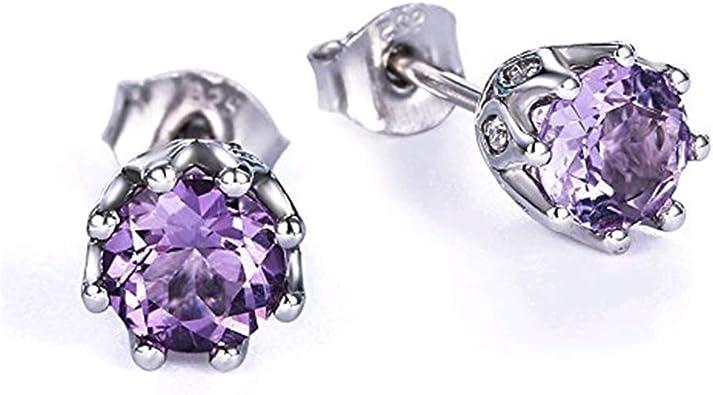 Pretty Purple Amethyst Quartz Sterling Silver Plated Stud// Earring 12 mm Handmade Art Jewelry