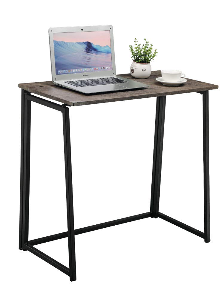 GreenForest Small Folding Computer Desk for Home Office Adults Students, Foldable Laptop Table Writing Desk Office Table, 31.5x15.7x29.1 Inches Easy Assembly, Black Kewlife