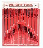 Wright Tool D973 Screwdrivers Jumbo Three Flute Ergonomic Handle, 28-Piece