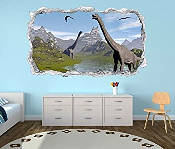 3d Wandtattoo Dino Dinosaurier Kinderzimmer Wand Aufkleber
