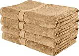 Utopis Towels 30x56-Inch Cotton Bath Towels, Beige (Pack of 4)