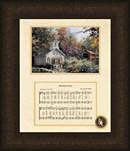 Amazing Grace Song with Church Framed Art - 10 X 12