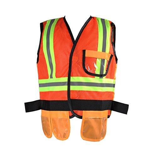 gradplaza los niños Disfraz de trabajadores de la Construcción de alta visibilidad chaleco de seguridad sólo