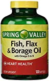 omega 3 6 caps - Spring Valley - Fish, Flaxseed, Borage Oil, Omega 3, 6, 9, 120 Softgels