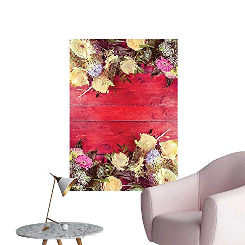 Wall Decals Rustic Wall View K ds Dried Lovers Fabric Relax i Red Yellow Fuchsi Environmental Protection Vinyl,16