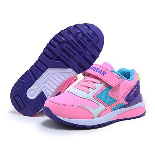 TAKURO Sneaker Kinder Laufschuhe Jungen Hallenschuhe Mädchen Turnschuhe Outdoor Leicht Sportart Schuhe für Unisex-Kinder Pink