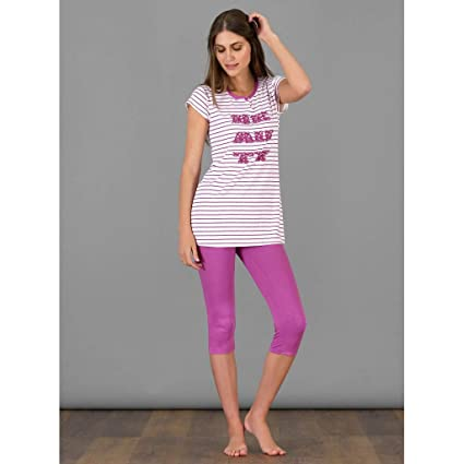 Pijama de mujer verano manga corta y pirata BLU 48