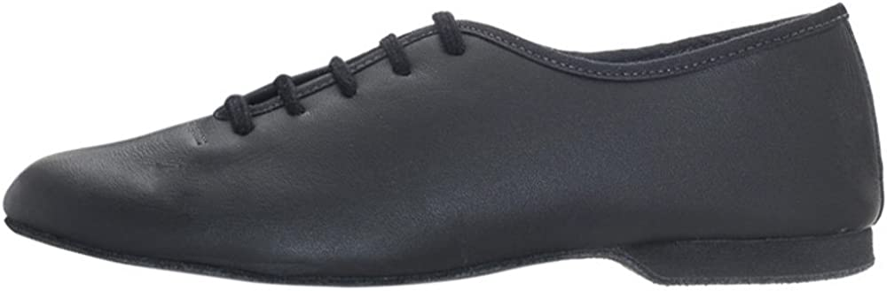 Black Leather Full Suede Sole Dance Stage Jazz Modern Shoes By Katz All Sizes