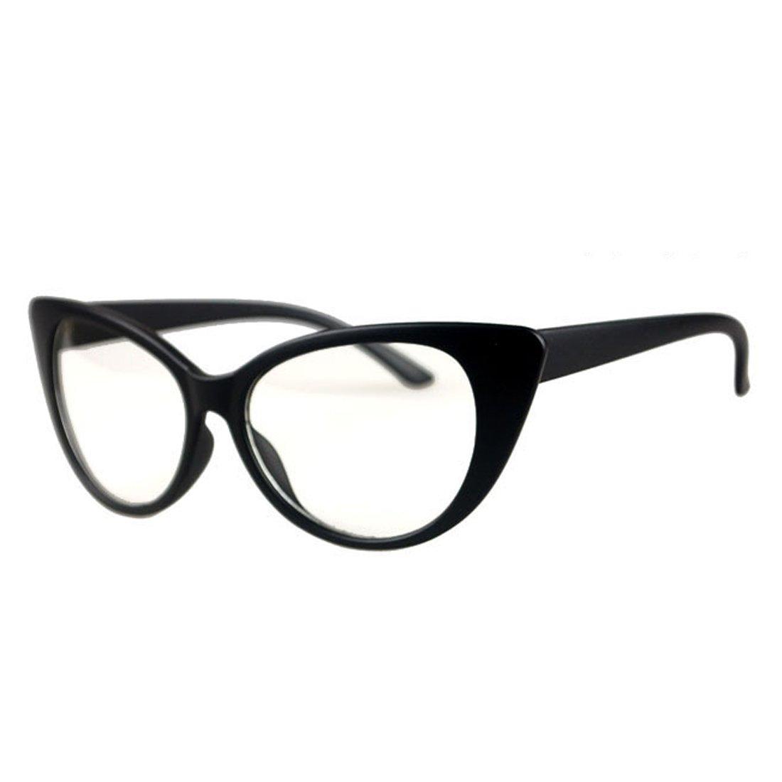 ebfc963ad1e3d NoyoKere Women Cat Eye Glasses Frames Striped Retro Eyeglasses Ladies  Vintage Plain Spectacles Frame Clear Lens Glasses  Amazon.co.uk  Sports    Outdoors
