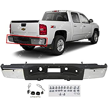 New Painted Silver Rear Step Bumper Assembly For GMC Sierra 1500 Classic 2007