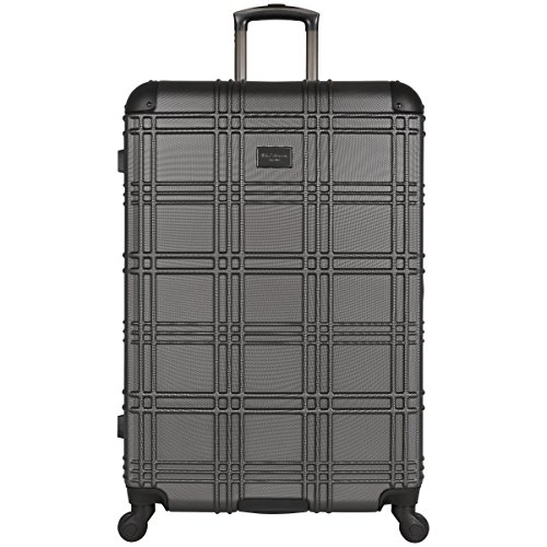 "Ben Sherman Nottinghame 28"" Lightweight Embossed Pap 4-Wheel Upright Luggage, Charcoal by Ben Sherman"