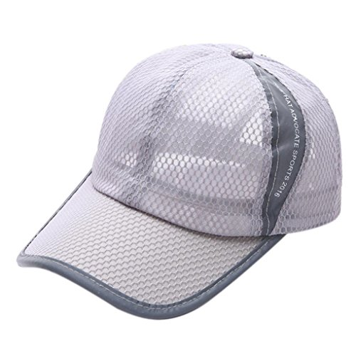 [Iuhan® New Summer Breathable Mesh Baseball Cap Men Women Sport Hats (Gray)] (1920s Beach Costume)