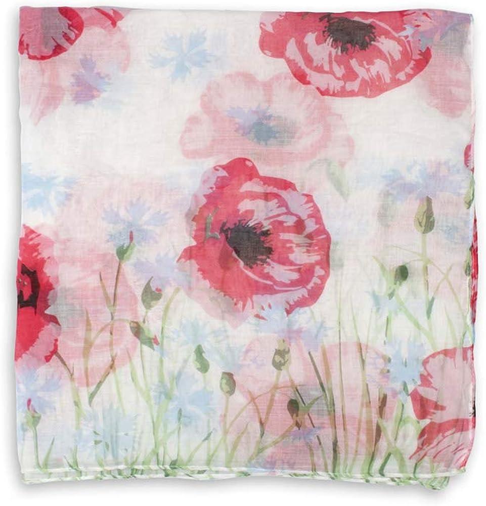 Meadow Poppy Scarf