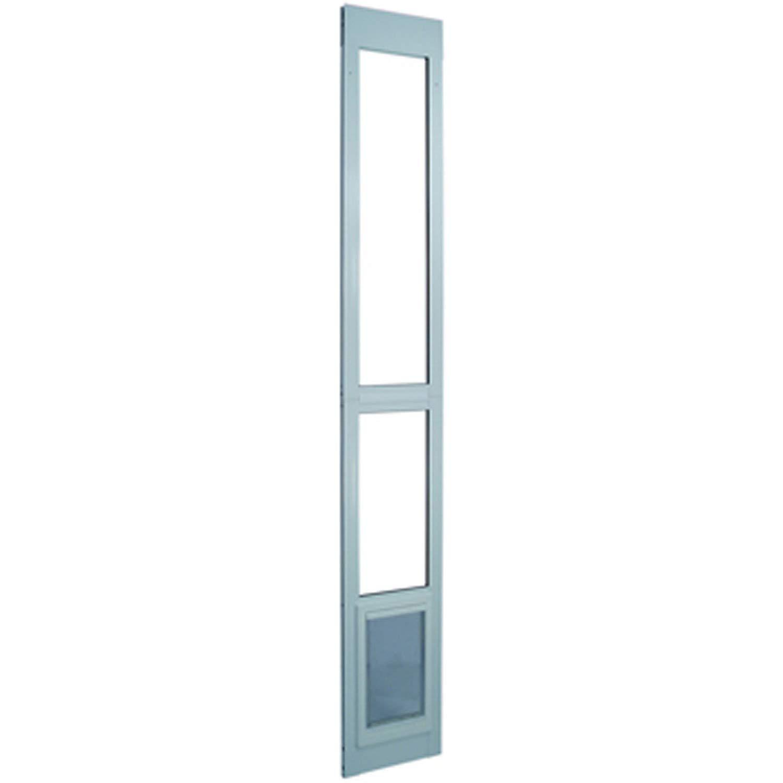 "Ideal Pet Products Aluminum Modular Pet Patio Door, adjustable height 77-5/8"" - 80"