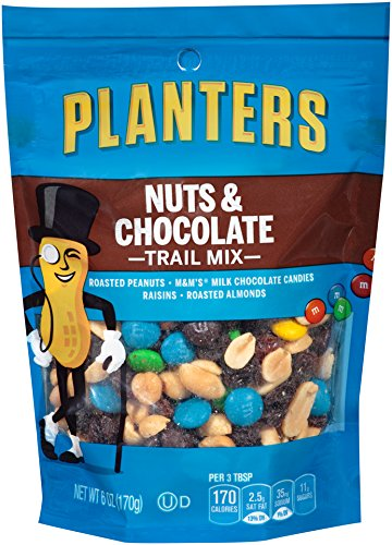 Planters Trail Mix, Nuts & Chocolate M&M's, 6 Ounce Bag (Pack of 12) (Dry Trail Mix)