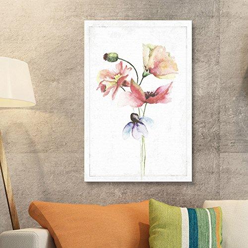 Watercolor Paint Variations Poppys Flower Series Artwork