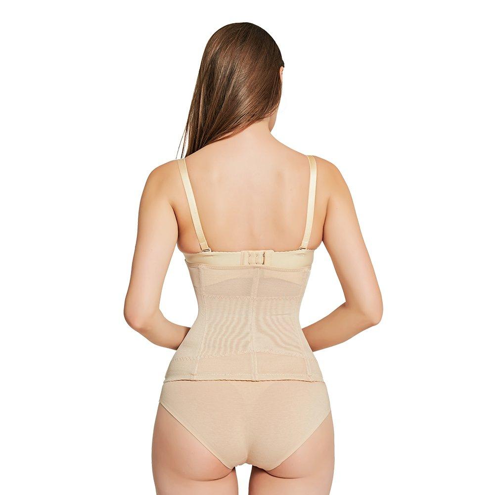 1a9aa10c20d AICONL Women s Miracle Waist Cincher Belt Tummy Control Underbust Corset  Slimming Lace Waist Trimmer Body Shaper Black at Amazon Women s Clothing  store