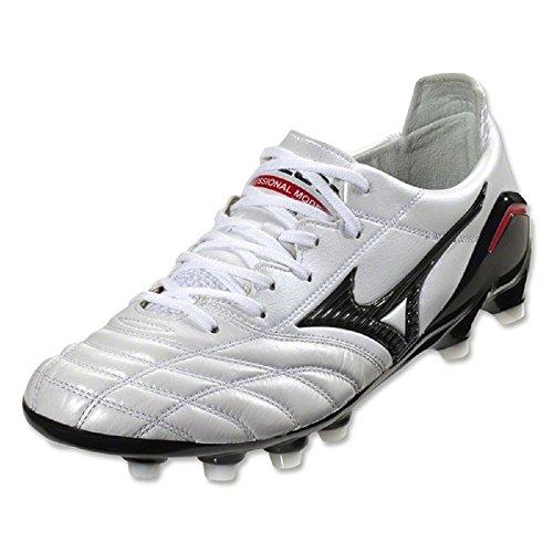 Mizuno - Botas de fútbol de Piel para hombre blanco blanco