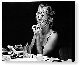 Framed Marilyn Monroe Friday The 13th Jason Mask 9X11 Print odd weird goth 8.5 X 11 Giclée Print