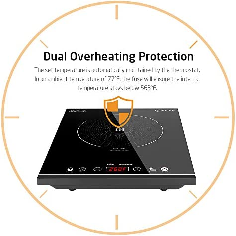 Portable Induction Cooktop iSiLER 1800W Sensor Touch Electric Induction Cooker Cooktop with Kids