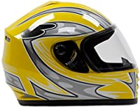 Youth Kids Full Face Helmet with Shield DOT Motorcycle Street Dirtbike ATV - Yellow ( Medium ) by Typhoon Helmets