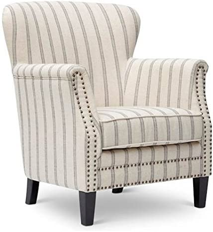Jofran CH-Flax Layla Accent Chair, White