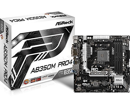 Amd Integrated Motherboard - ASRock AB350M PRO4 MicroATX Motherboard